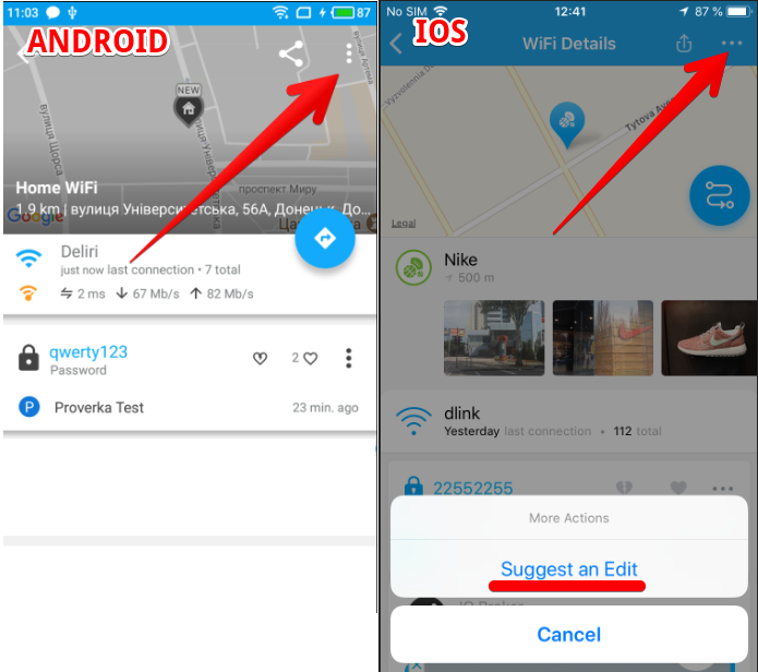 How to update WiFi info? – WiFi Map Support